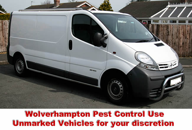 Birmingham Pest Control Services use unmarked vehicles for absolute discretion.